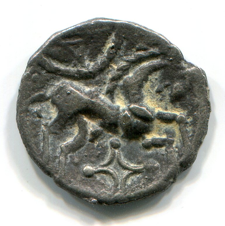 Iceni Silver Coin: reverse with horse.